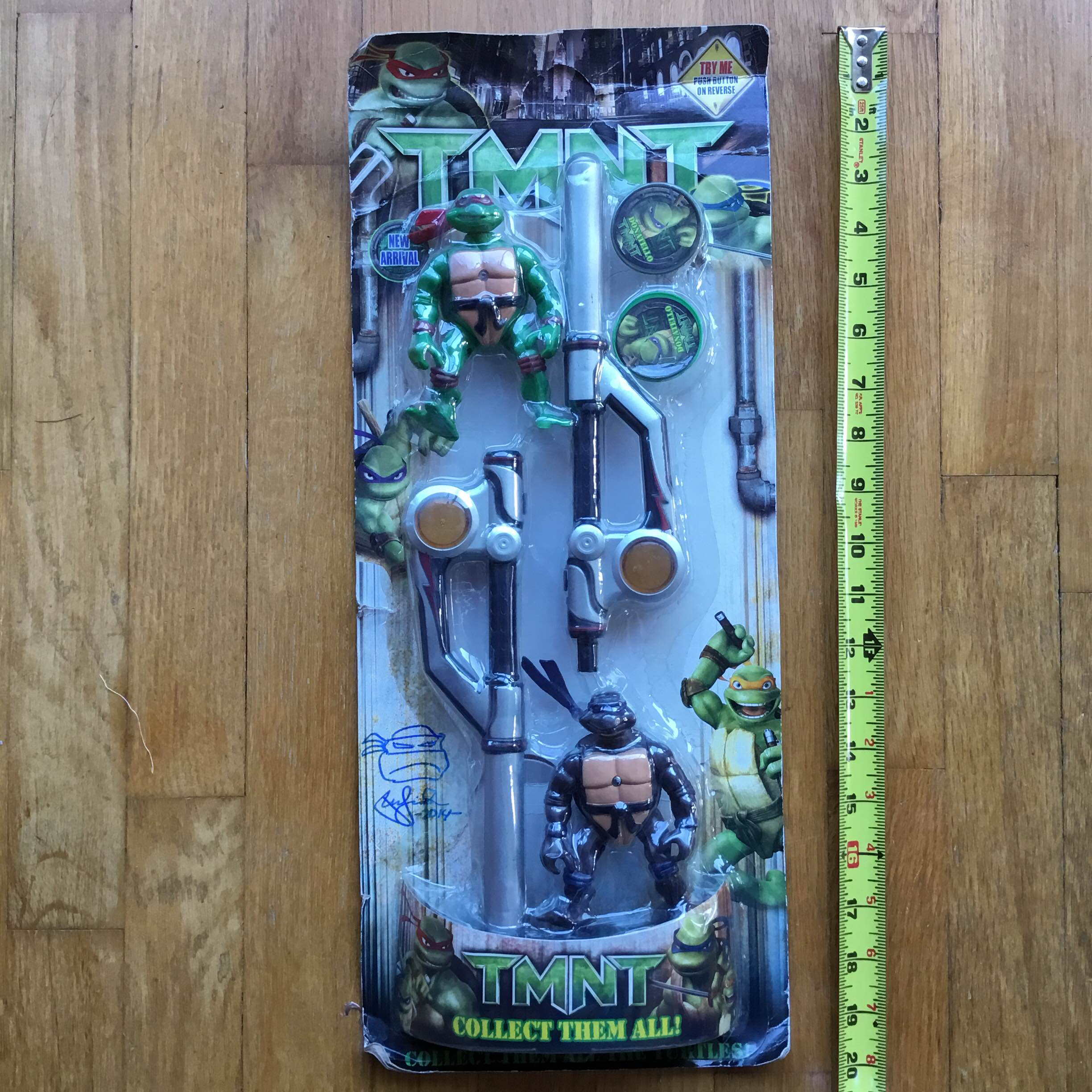 TMNT Bootleg Don + Raph SEIZED BY CUSTOMS, Signed by Laird RARE