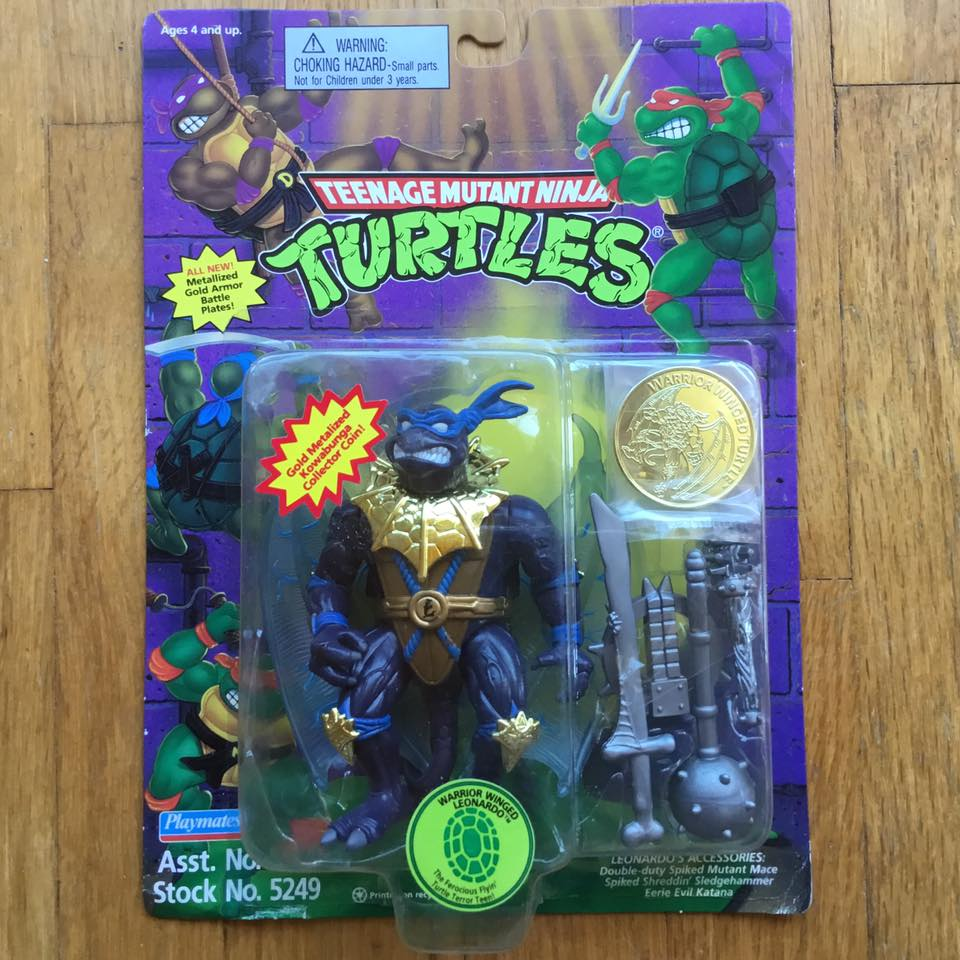 1995 Mint on Card Warrior Winged  Leo, one of 2 bad guy turtles created by Mirage Studios.
