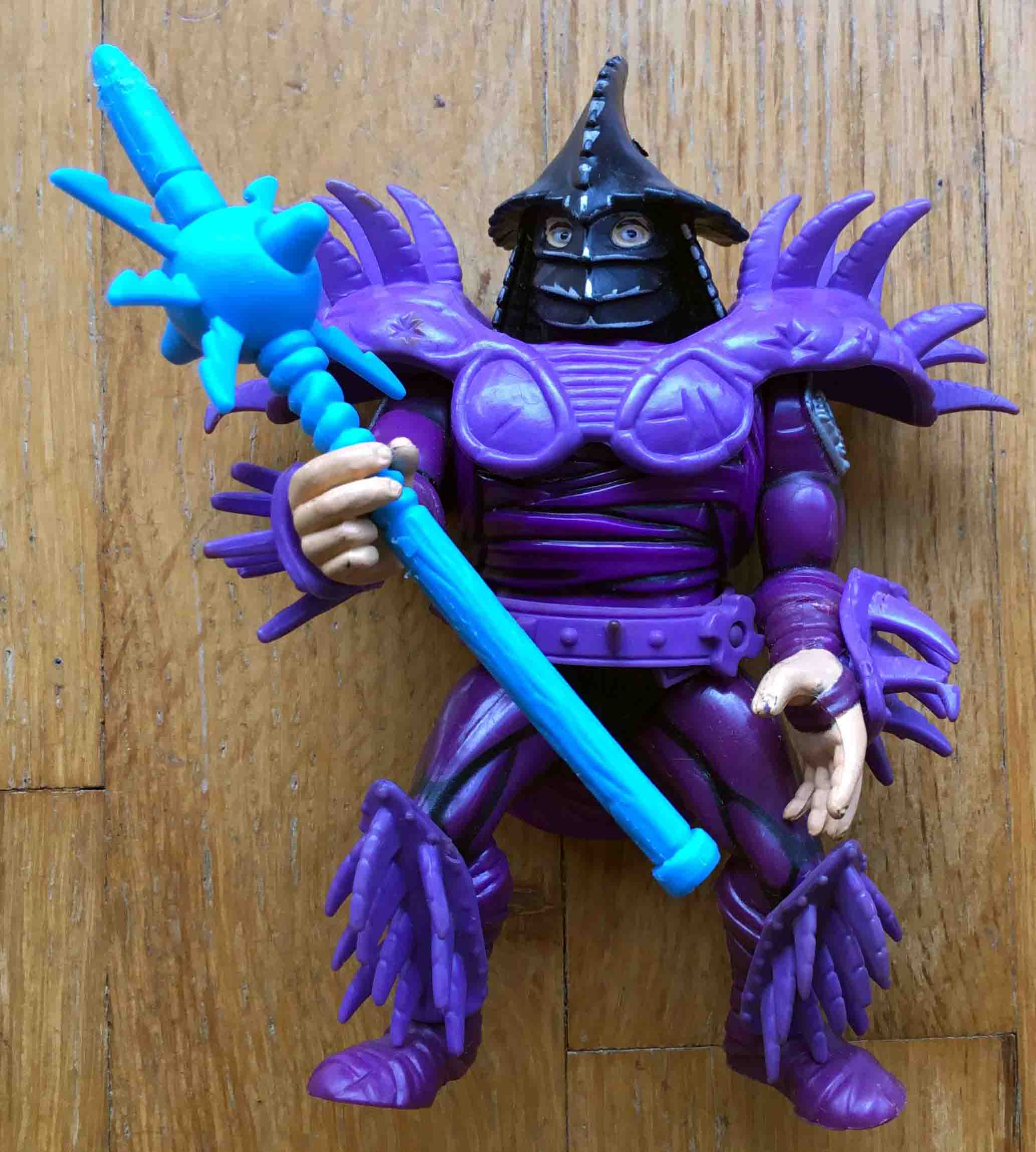 1991 TMNT All Purple armor SUPER SHREDDER German UK Europe Loose Figure.