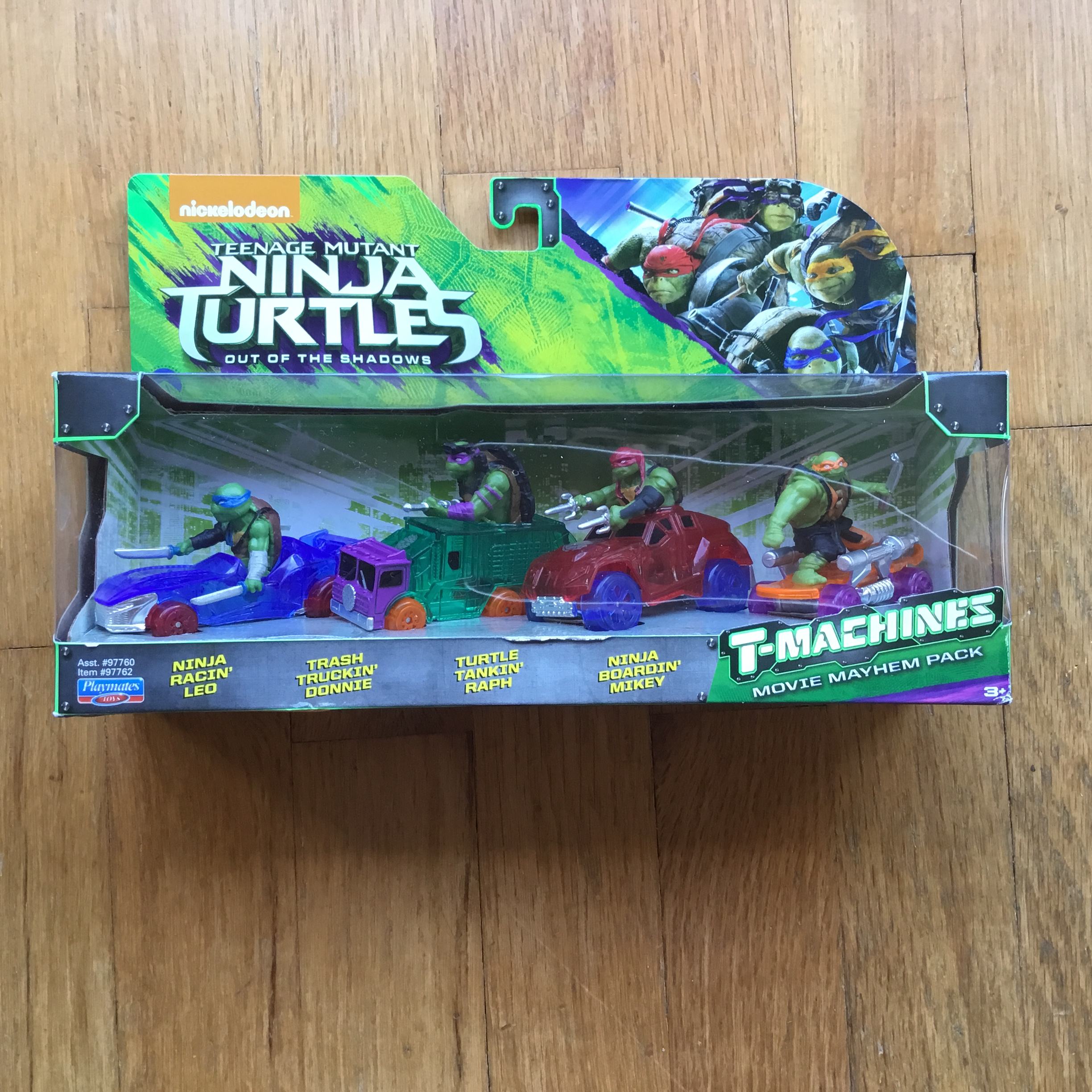 2016 TMNT : Out of the Shadows T-Machines Movie Mayhem Pack