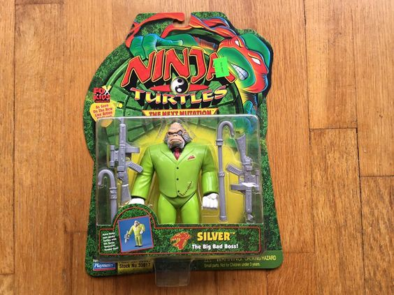 1997 Final Wave, TMNT Next Mutation Silver, the Big Bad Boss!