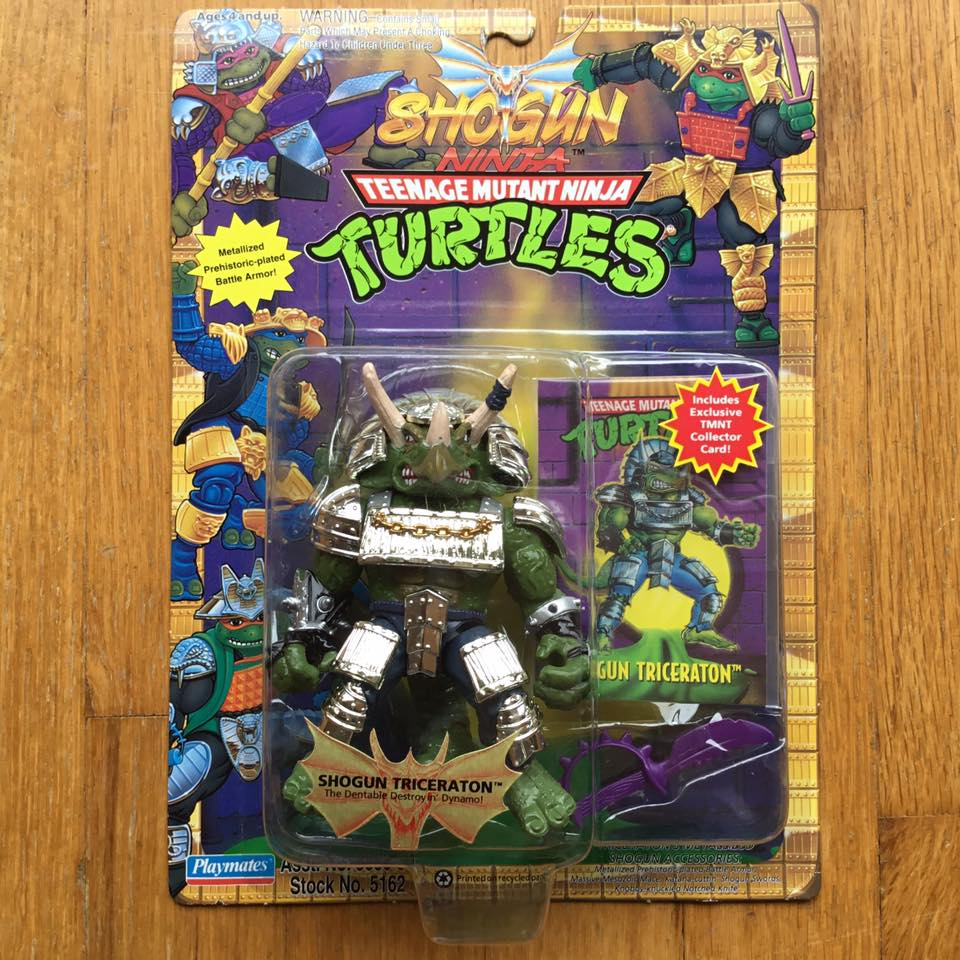 1994 Mint on Card, completely untouched TMNT Shogun Triceraton, the holy mother of all TMNT Toys.